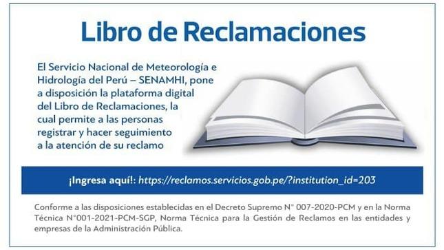 Plataforma Digital Libro de Reclamaciones
