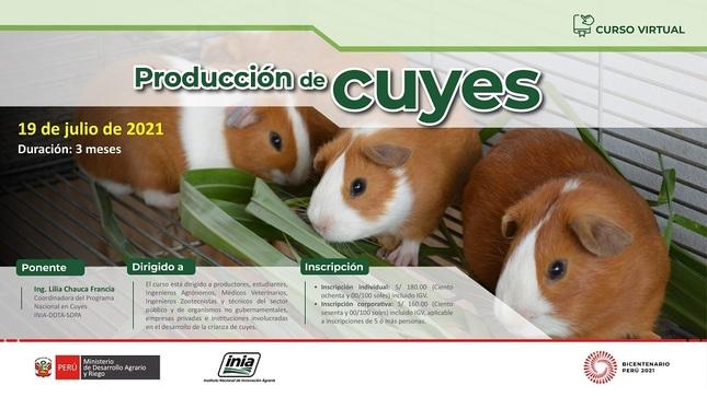 """Curso Virtual: """"Producción de Cuyes"""""""