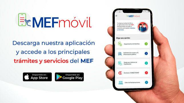 Descarga la aplicación MEFmóvil para trámites y servicios