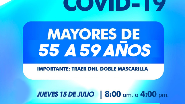 #VacunacionTamboDeMora #Desde 55 a 59 años