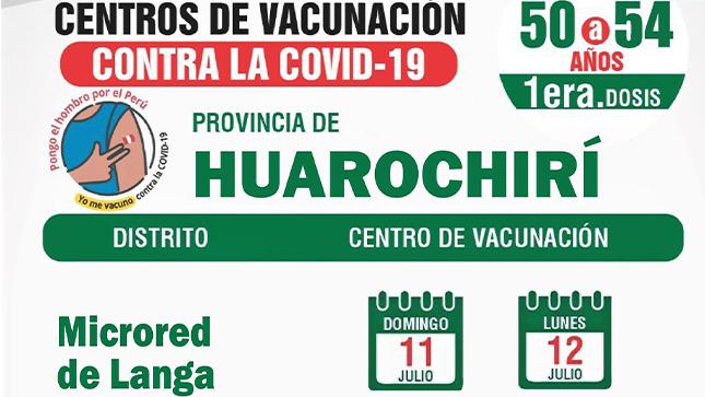 Vacunacion a los adultos de 50 a 54 años