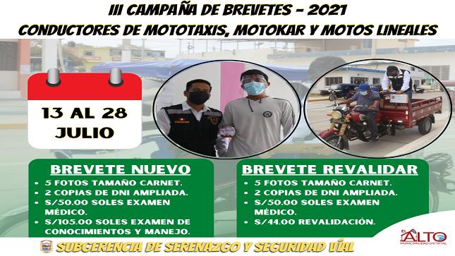 Tercera Campaña de Brevetes -2021