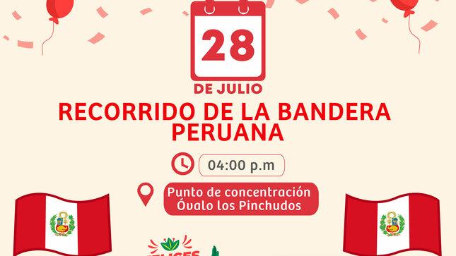 Recorrido de la Bandera Peruana por el BICENTENARIO