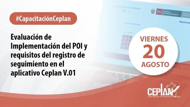 Capacitación: Evaluación del POI y seguimiento en App Ceplan