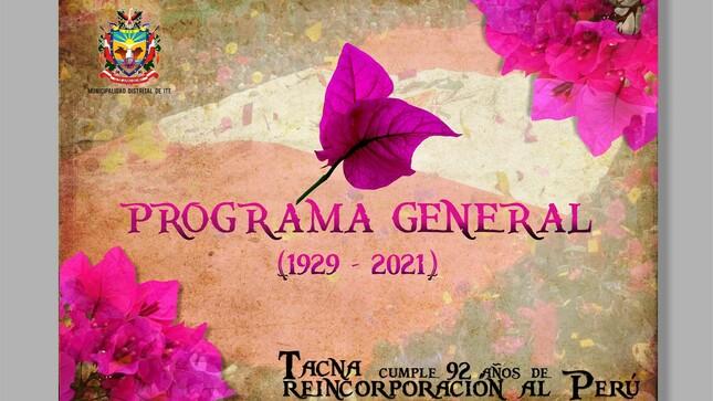 Tacna cumple 92 años de reincorporación al Perú
