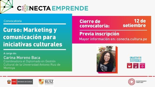 """Curso """"Marketing y comunicación para iniciativas culturales"""""""