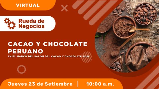 Rueda de Negocios Virtual de Cacao y Chocolate Peruano