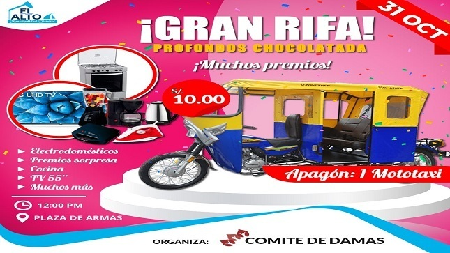 Llévate una mototaxi - Rifa Comité de Damas