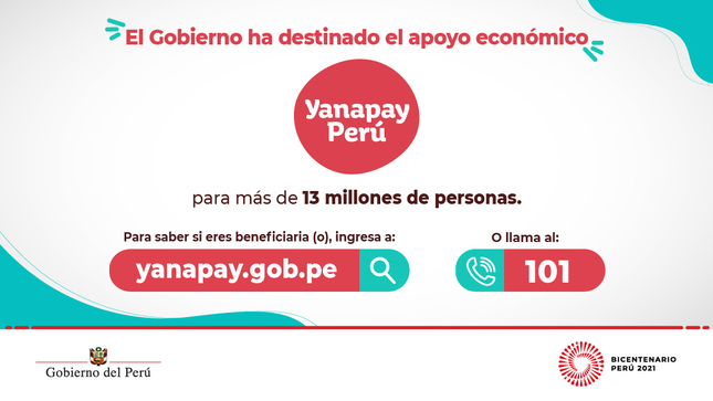 Conoce más sobre el apoyo económico Yanapay Perú
