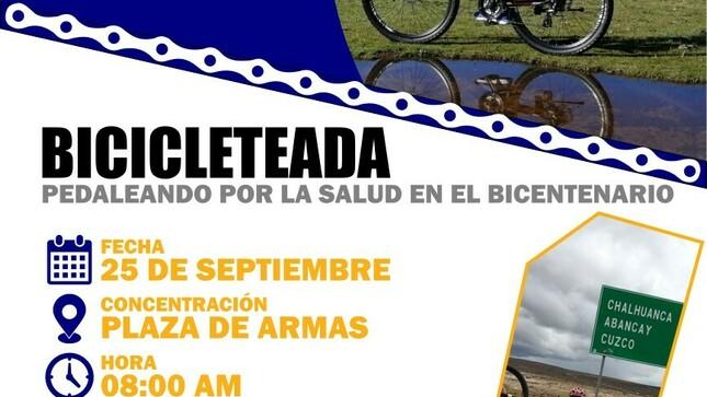"""Primera Gran Bicicleteada """"Pedaleando Por La Salud"""""""