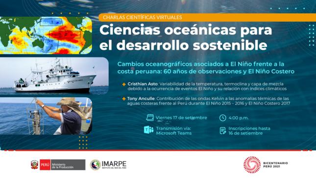 Charla científica virtual oceanográfica - 17 setiembre 2021