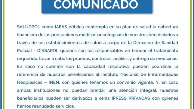 Comunicado SaludPol