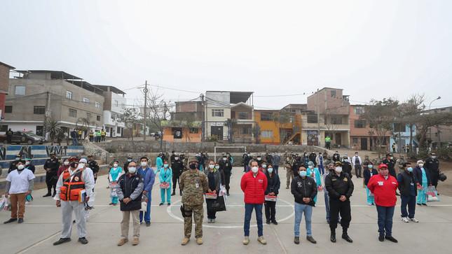Ministro de Defensa supervisó Operación TAYTA en Villa María del Triunfo
