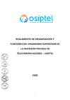 Vista preliminar de documento Reglamento de Organizaciones y Funciones (ROF) del Osiptel