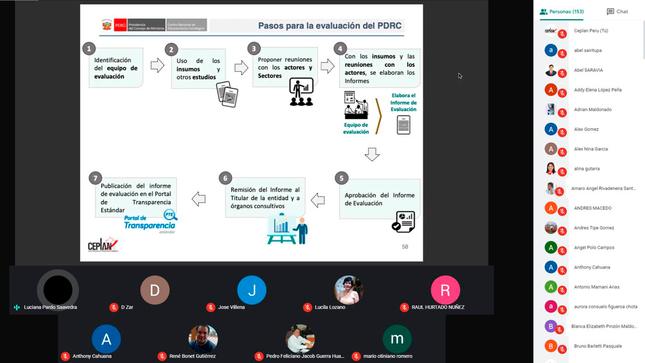 Funcionarios regionales reciben capacitación para la elaboración del PDRC