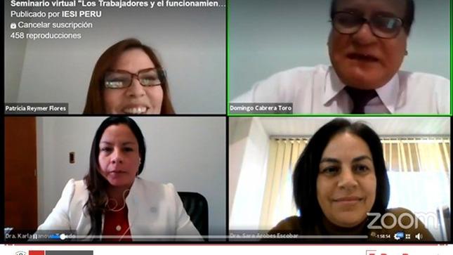 Ministerio de Trabajo participó en seminario virtual «Los trabajadores y el funcionamiento del comité de seguridad y salud en el trabajo en época de COVID-19»