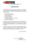 Vista preliminar de documento Comunicado a la Opinión Pública y a la Provincia de Espinar