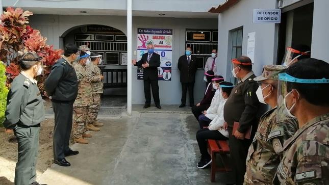 Fuero Militar Policial exhorta a mantener y reforzar la seguridad sanitaria en sus sedes a nivel nacional