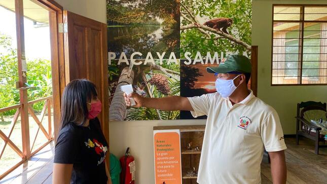 COVID-19: Sernanp distribuye equipos e implementos sanitarios en puestos de control de la Reserva Nacional Pacaya Samiria