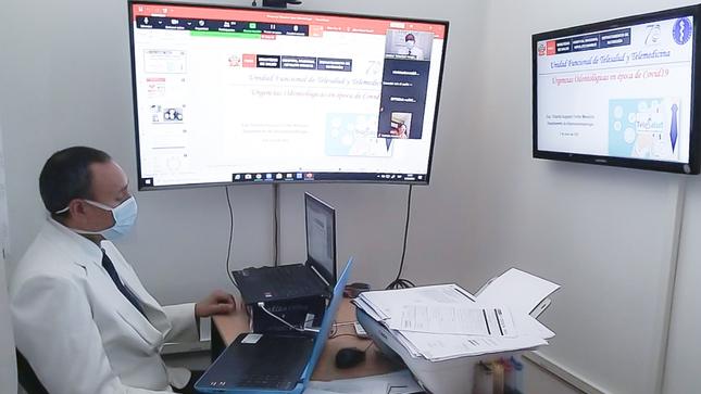 Hospital Nacional Hipólito Unanue Realiza Tele-Capacitaciones a Personal de Salud del Perú