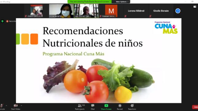 Midis fortalece capacidades de especialistas en nutrición de Cuna Más a favor de niñas y niños en situación de vulnerabilidad