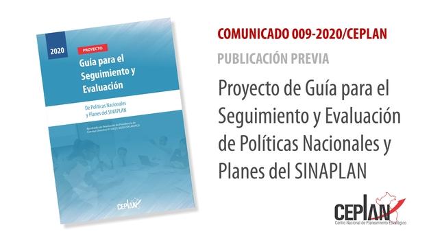 COMUNICADO 009-2020/CEPLAN