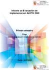 Vista preliminar de documento Informe de Evaluación de Implementación del  Plan Operativo Institucional (POI)  - Primer Semestre 2020