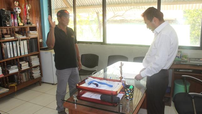 Juramenta Nuevo Agente Municipal de la CC.NN de BETIJAY