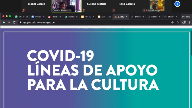 Ministerio de Cultura capacita a organizaciones afroperuanas para acceder a líneas de apoyo económico para la cultura