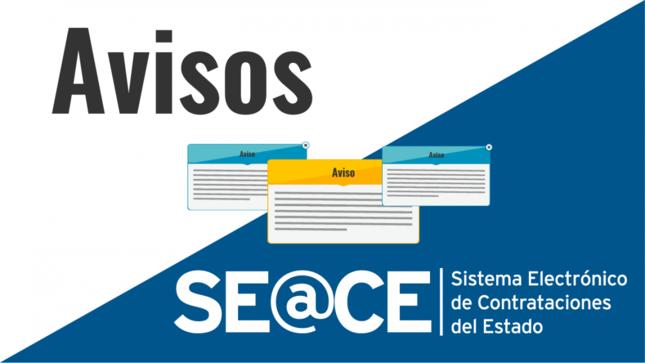 Aviso: Implementación de mejoras y nuevas funcionalidades en el SEACE