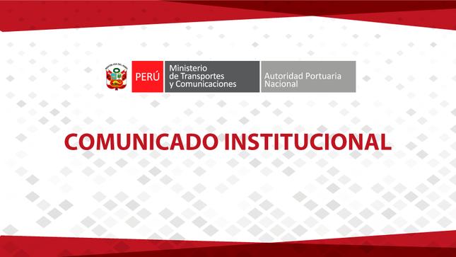 Comunicado N°038-2020-APN