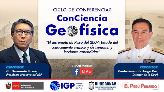 IGP y DIHIDRONAV realizarán conferencia conjunta sobre los 13 años del terremoto de Pisco de 2007