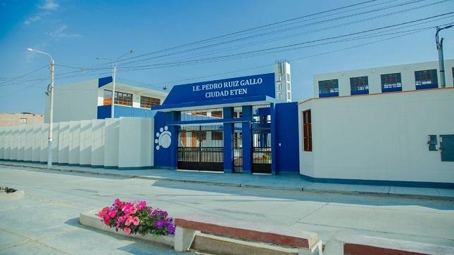 Con una inversión superior a los 13 millones de soles inauguran la IE Pedro Ruiz Gallo de Lambayeque