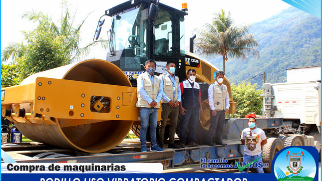 DÍA HISTÓRICO PARA EL DISTRITO - Se llevó a cabo la Gran inauguración de dos maquinarias pesadas