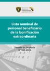 Vista preliminar de documento Lista nominal de personal beneficiario de la bonificación extraordinaria