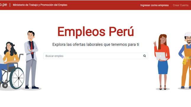 """Más de 13 mil vacantes ofrece plataforma """"Empleos Perú"""" en solo un mes de funcionamiento"""