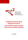 Vista preliminar de documento Informe de Evaluación de Implementación del Plan Operativo Institucional (POI) Anual 2020