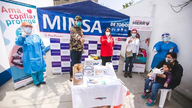 Midis y Minsa fortalecen el trabajo articulado en favor del Desarrollo Infantil Temprano y la lucha contra la anemia en niños y niñas