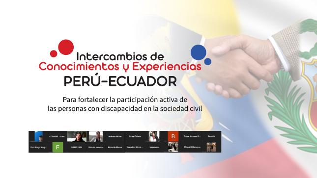CONADIS participó en encuentro de intercambio de conocimientos y experiencias sobre personas con discapacidad entre Perú y Ecuador