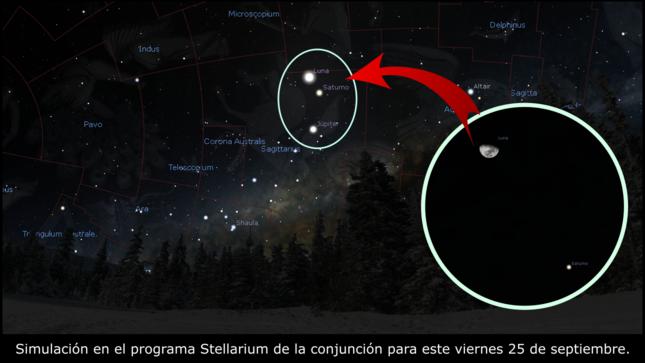 Triple conjunción Luna-Júpiter-Saturno en los cielos del Perú
