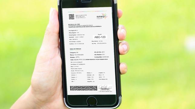 Sunarp emitirá Tarjeta de Identificación Vehicular Electrónica (TIVE)