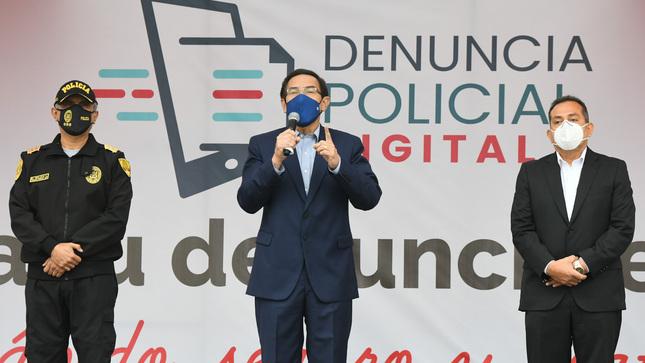 Presidente Vizcarra y ministro Gentille presentan servicio de denuncia policial digital