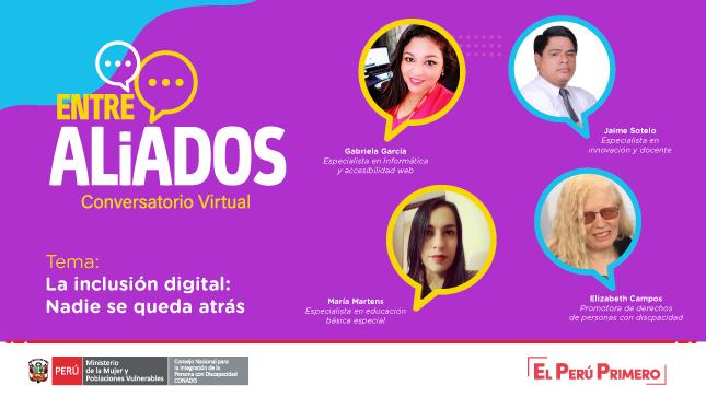 """CONADIS abordó sobre: """"La inclusión digital: Nadie se queda atrás"""""""