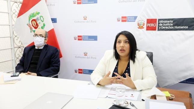 Ministra Ana Neyra expuso en el Pacto Perú  sobre la reforma del sistema de justicia