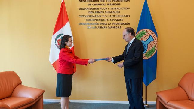 Presentación de cartas credenciales de la Representante Permanente del Perú ante la Organización para la Prohibición de Armas Químicas (OPAQ)