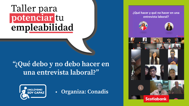"""CONADIS realizó taller virtual """"Las actitudes que definen mi marca personal"""""""