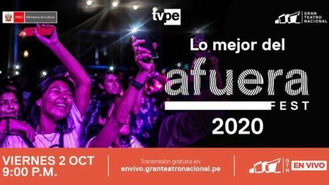 """Disfruta de las mejores presentaciones de lo que fue el """"Afuera Fest 2020"""""""