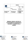 Vista preliminar de documento Manual para el uso de la Plataforma de Atención al Usuario y cliente de la CONIDA