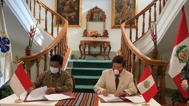Memorándum de entendimiento para la reactivación del sector turismo del Perú e Indonesia