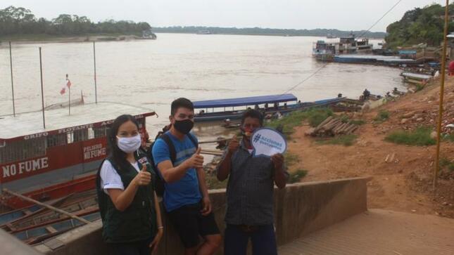 """Realizan campaña """"Acciones que cuentan"""" para cuidar los ríos en la Amazonía"""